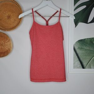 Lululemon Power Y Tank Top Yoga Workout Red Specks